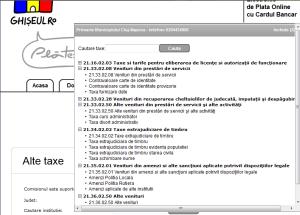 Taxe plătibile prin Ghiseul