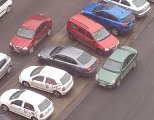 Un crop pe imaginea cu parcarea