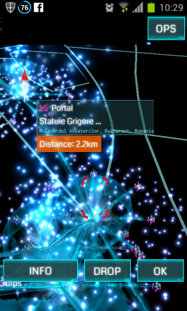 Screenshot din Ingress